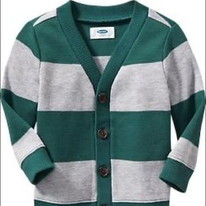 Green and Gray Old Navy Cardigan Boys 3T
